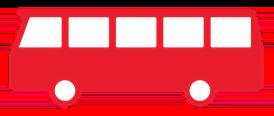 Billede af en af de røde busser
