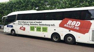 Billede af en Rødbillet bus