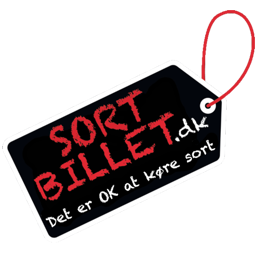 Sortbillet logo